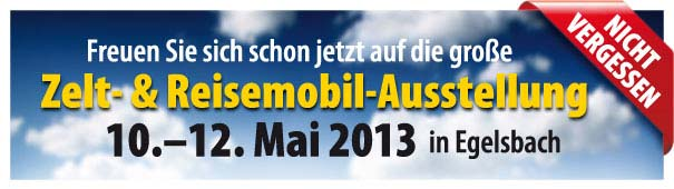 Wohnmobil - Ausstellung in Egelsbach vom 10 bis 12 Mai