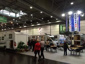 Wohnmobile, Reisemobile, Wohnwagen und Caravans der Marke Adria auf der T&C Messe in Leipzig