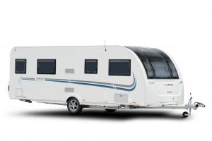 Design-Wohnwagen mit Panorama-Dach von Adria