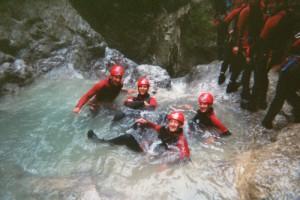 Freizeitspaß für jung und alt, Canyoning