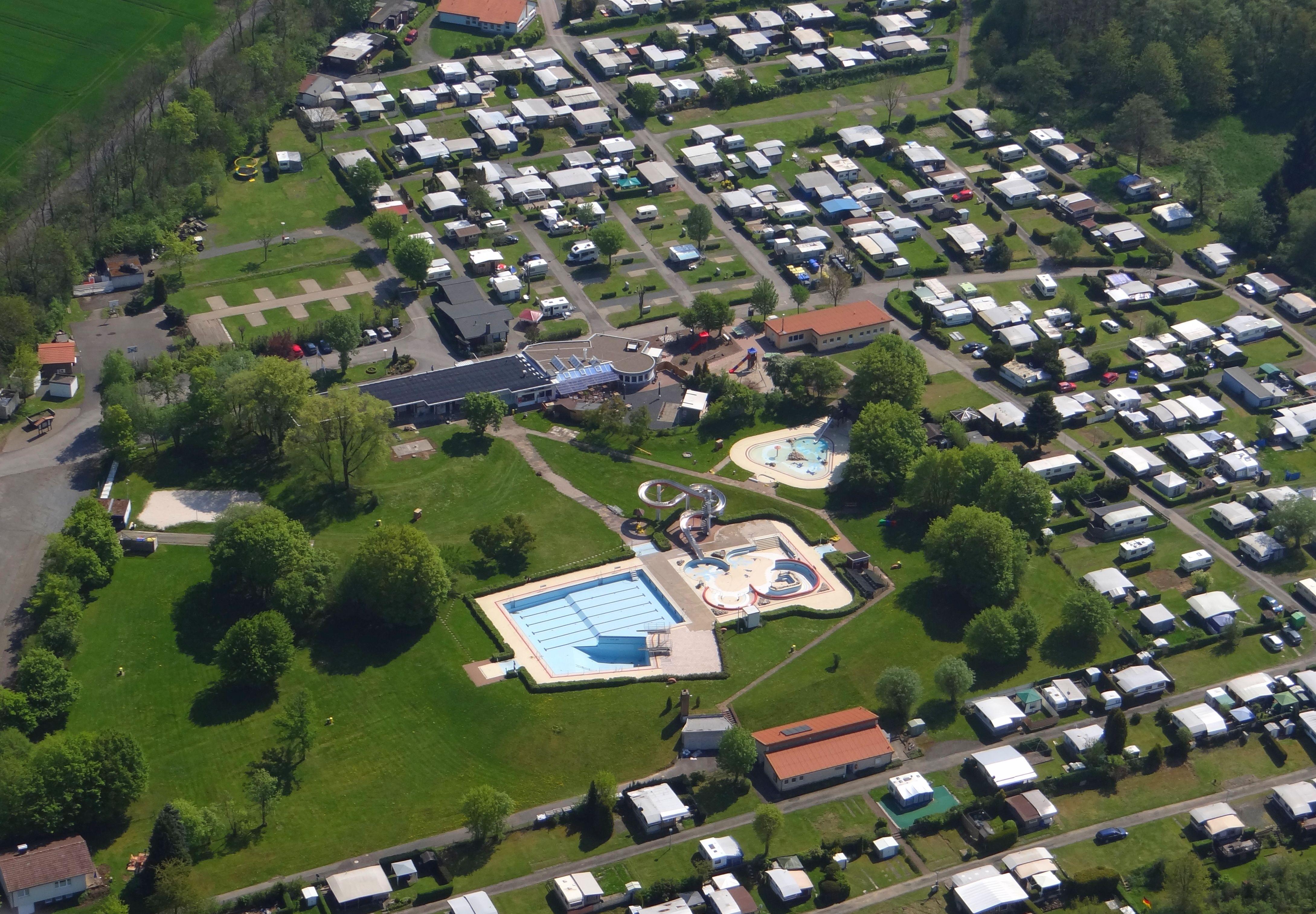 Luftaufnahme vom Campingplatz Dransfeld