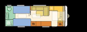Riesiges Heckbad und komfortable Einzelbetten im Astella